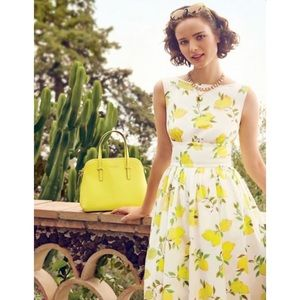 "Kate Spade ""Lyric"" lemon print dress 0"